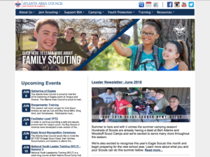 Website for the Atlanta Area Council of the Boy Scouts of America