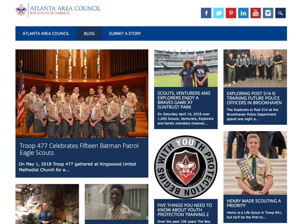 Blog for the Atlanta Area Council of the Boy Scouts of America
