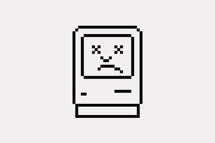 "Apple's classic ""Sad Mac"" sums up a lot of current web content"