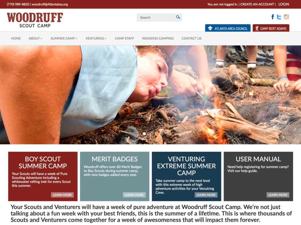 Woodruff Scout Camp website