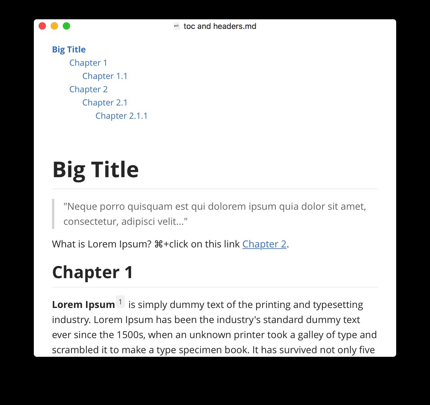 Screenshot of Typora on the Mac