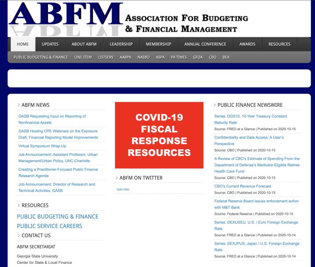 Original ABFM Website (Circa Oct. 2020)
