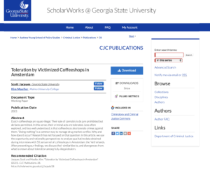 Detail view of a research document within ScholarWorks including complete metadata